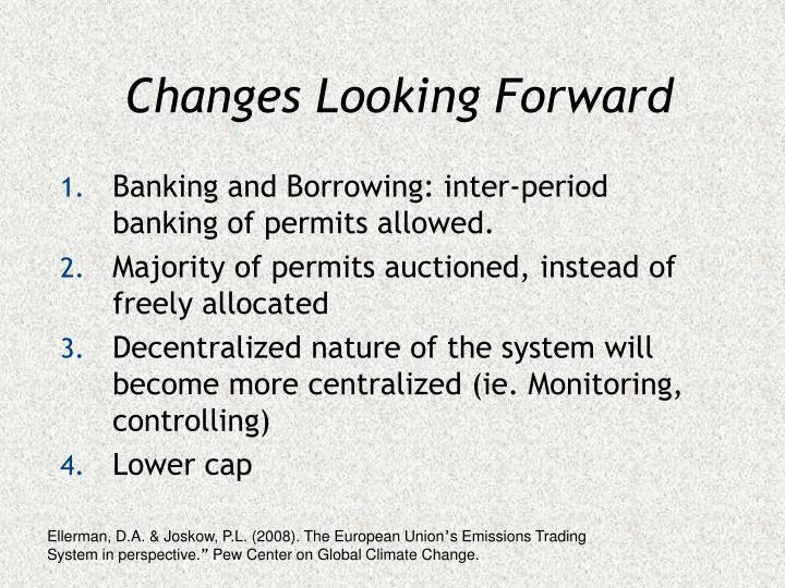 Changes Looking Forward