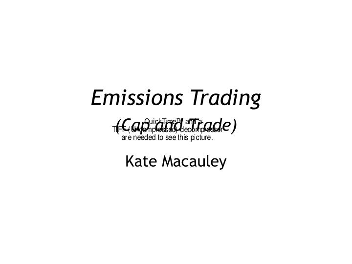 Emissions trading cap and trade