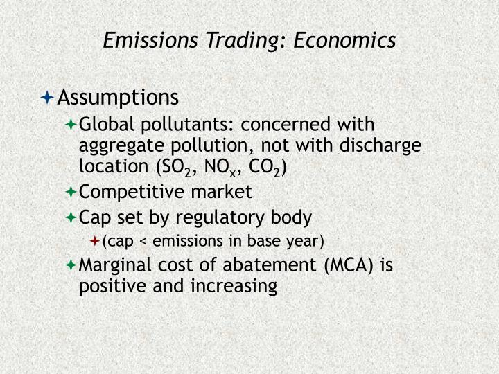 Emissions Trading: Economics