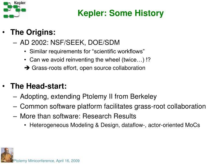 Kepler: Some History