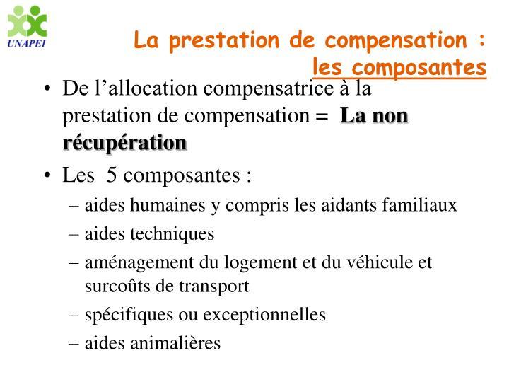 La prestation de compensation :