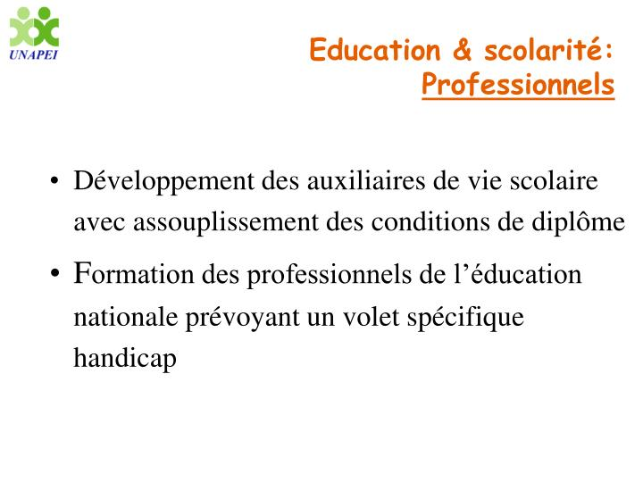 Education & scolarité: