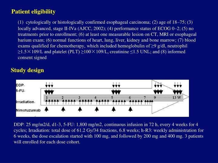 Patient eligibility