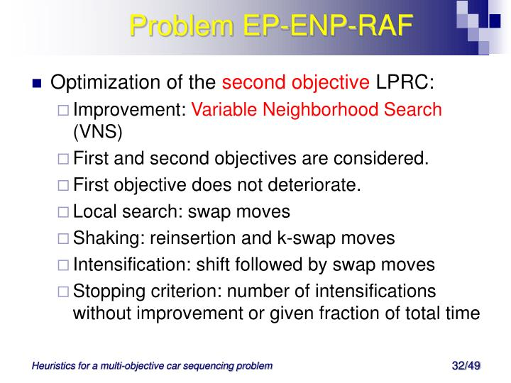 Problem EP-ENP-RAF