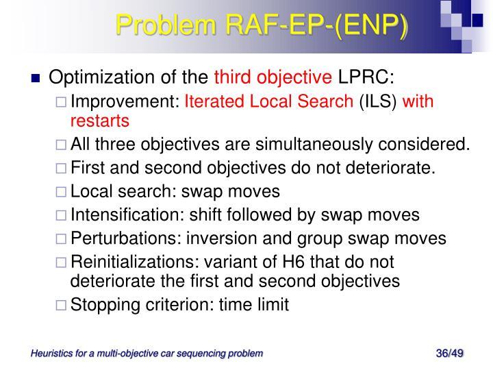 Problem RAF-EP-(ENP)