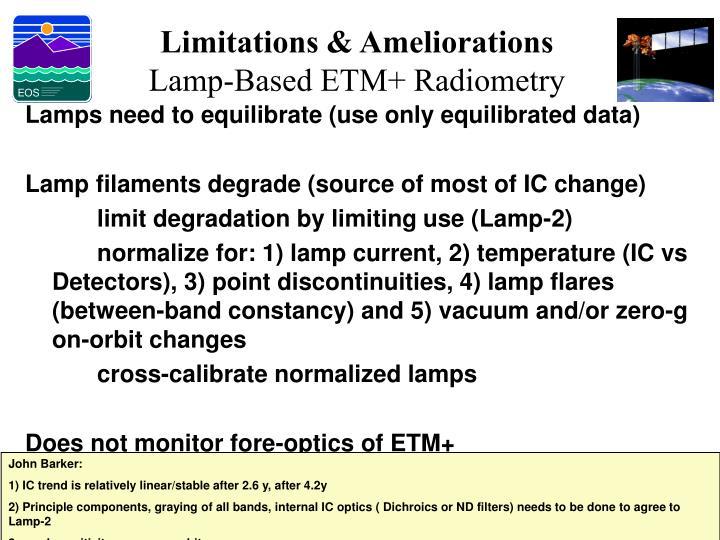 Limitations & Ameliorations