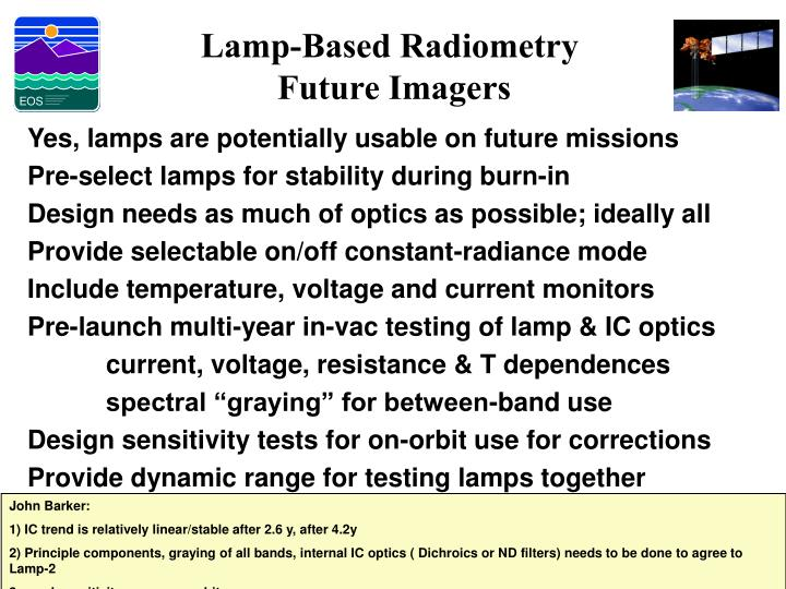 Lamp-Based Radiometry