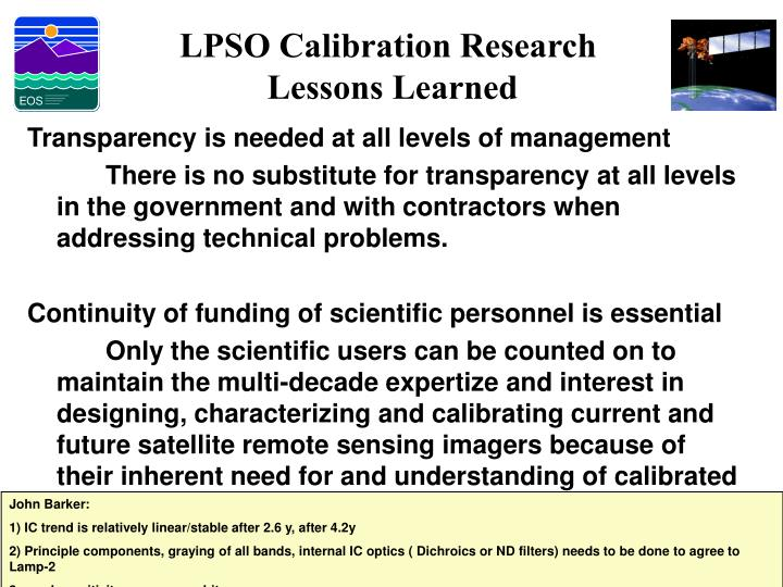 LPSO Calibration Research