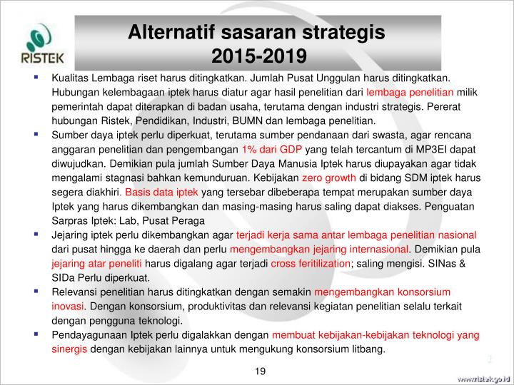 Alternatif sasaran strategis