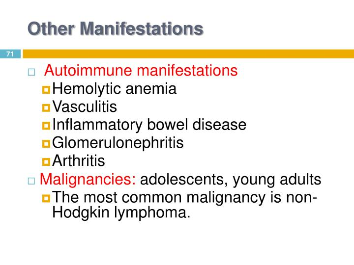 Other Manifestations