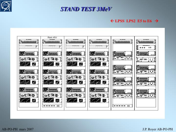 STAND TEST 3MeV