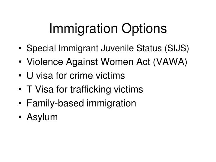 Immigration Options