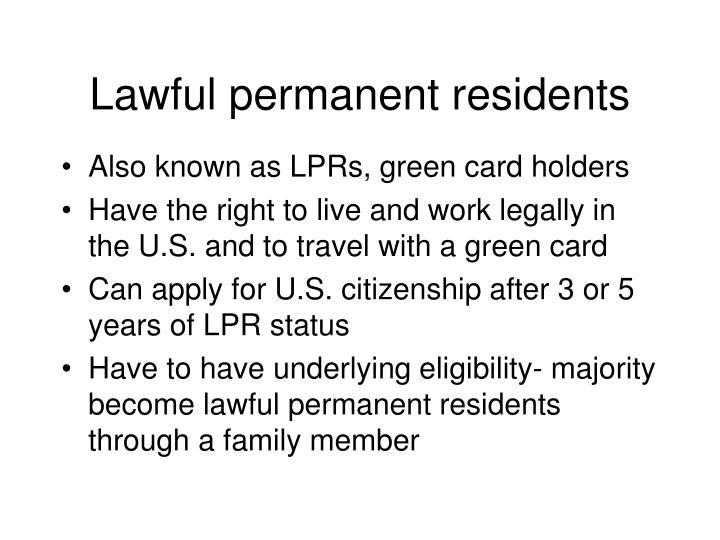 Lawful permanent residents