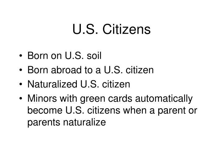 U.S. Citizens