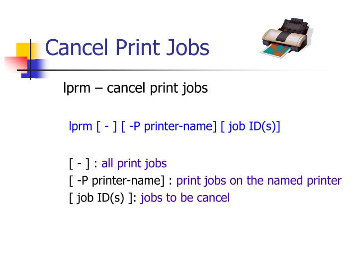 Cancel Print Jobs