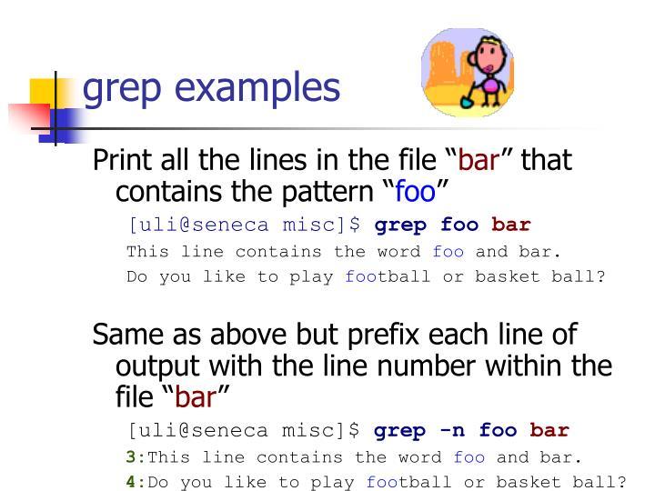 grep examples