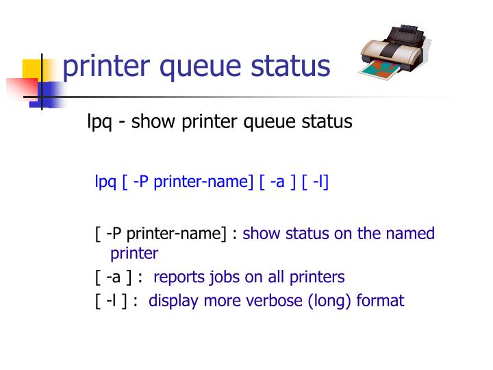 printer queue status