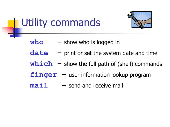 Utility commands