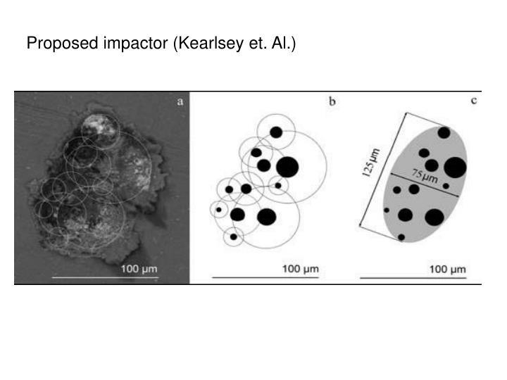 Proposed impactor (Kearlsey et. Al.)