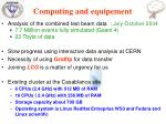 computing and equipement