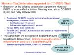 morocco tier2 federation supported by cc in2p3 tier1