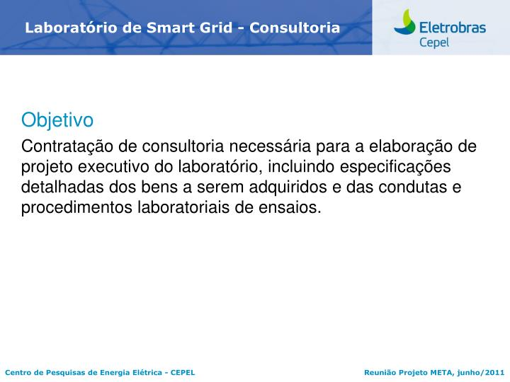 Laboratrio de Smart Grid - Consultoria