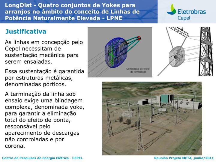LongDist - Quatro conjuntos de Yokes para arranjos no âmbito do conceito de Linhas de Potência Naturalmente Elevada - LPNE