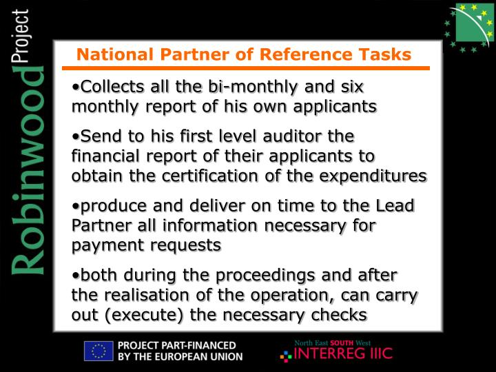 National Partner of Reference Tasks