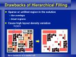 drawbacks of hierarchical filling