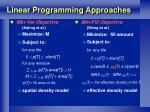 linear programming approaches