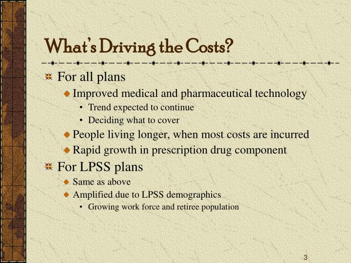 What s driving the costs