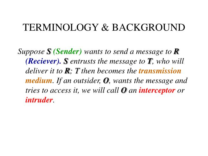 Terminology background