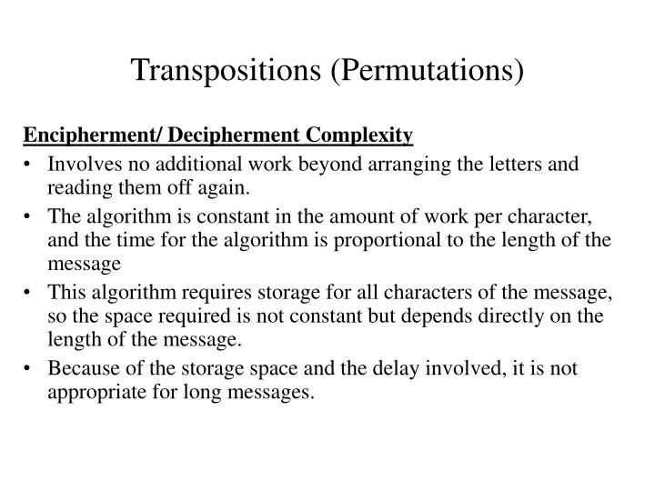 Transpositions (Permutations)