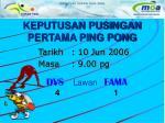 keputusan pusingan pertama ping pong1