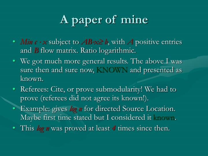 A paper of mine