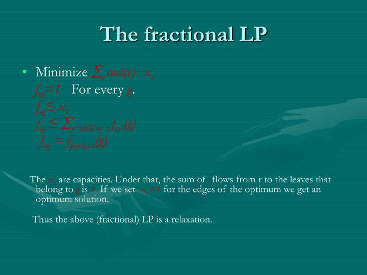The fractional LP