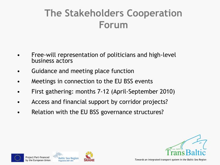 The Stakeholders Cooperation Forum