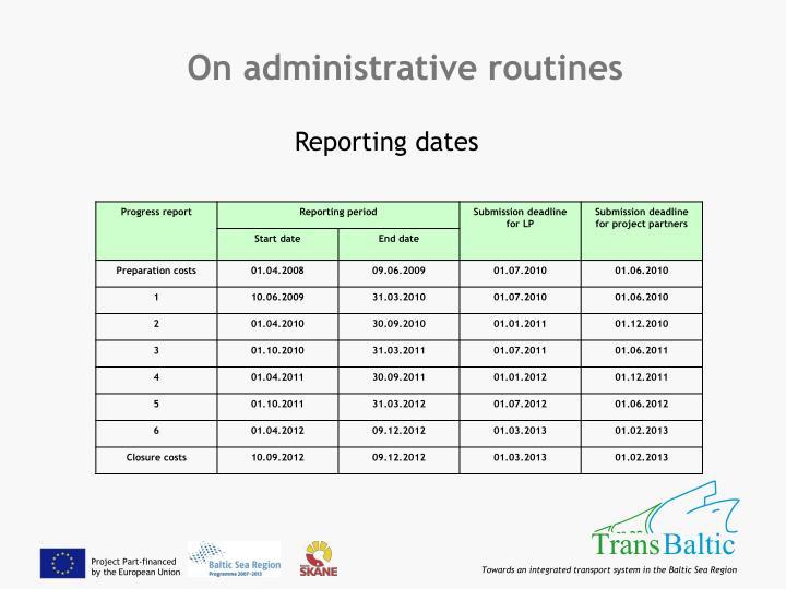 On administrative routines