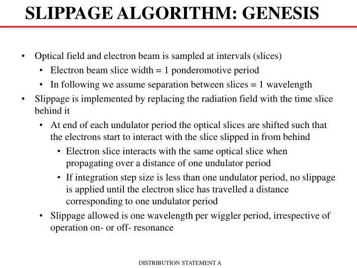SLIPPAGE ALGORITHM: GENESIS