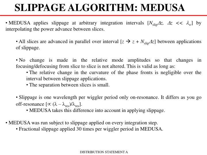 SLIPPAGE ALGORITHM: MEDUSA