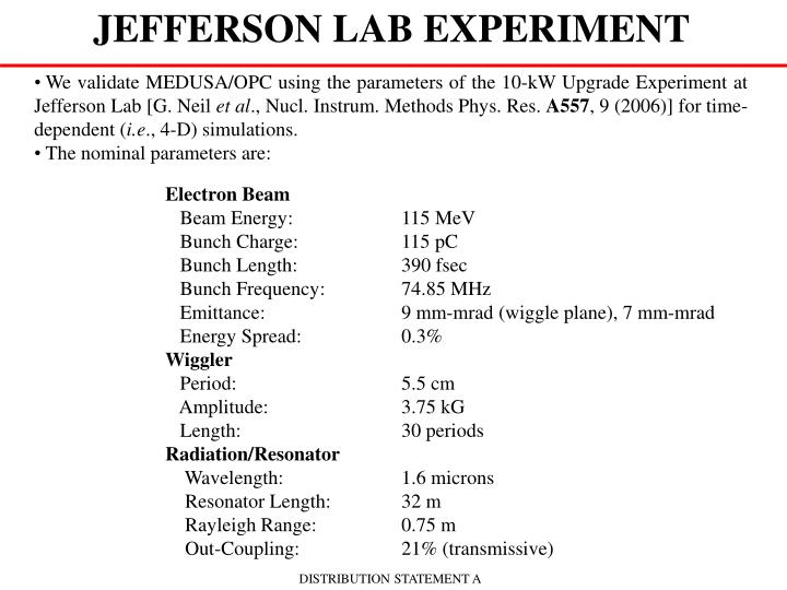 JEFFERSON LAB EXPERIMENT