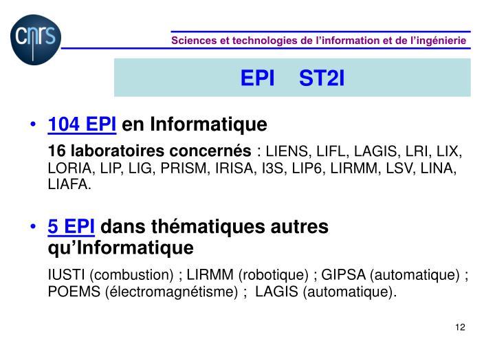 EPI    ST2I