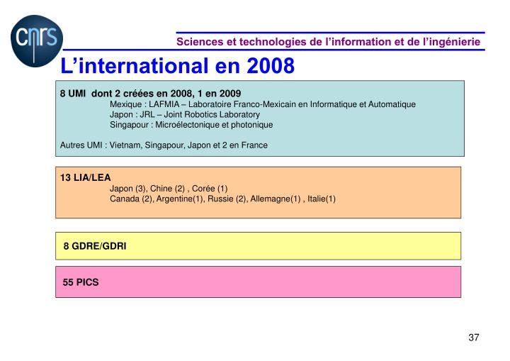 L'international en 2008