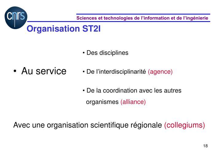 Organisation ST2I