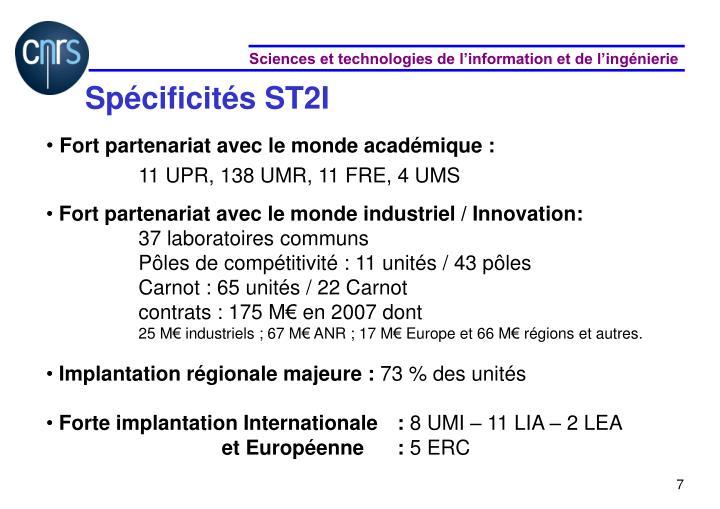 Spécificités ST2I