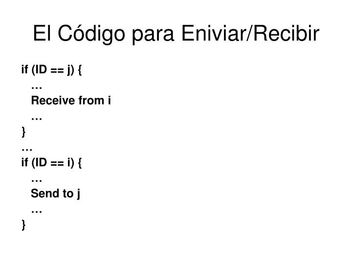 El Código para Eniviar/Recibir