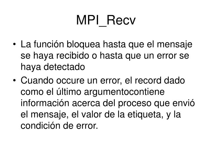MPI_Recv