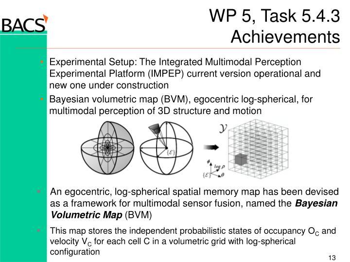 WP 5, Task 5.4.3