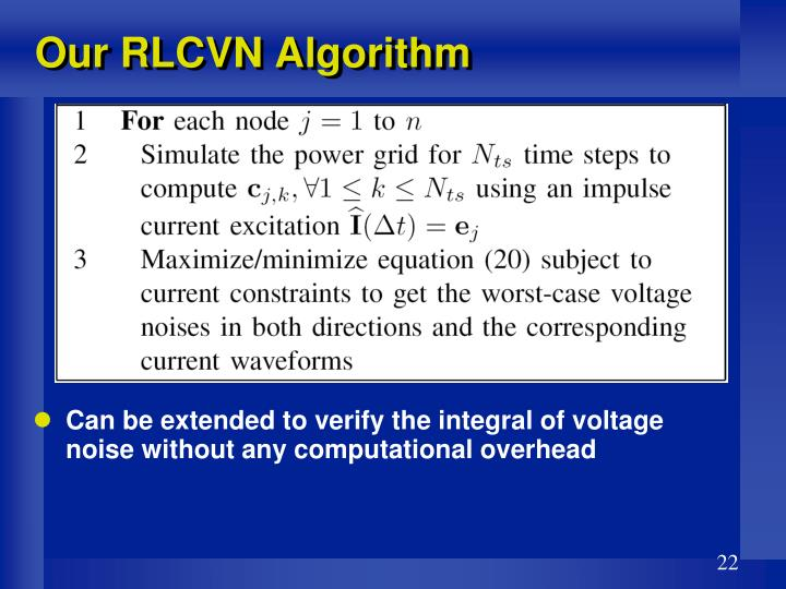 Our RLCVN Algorithm