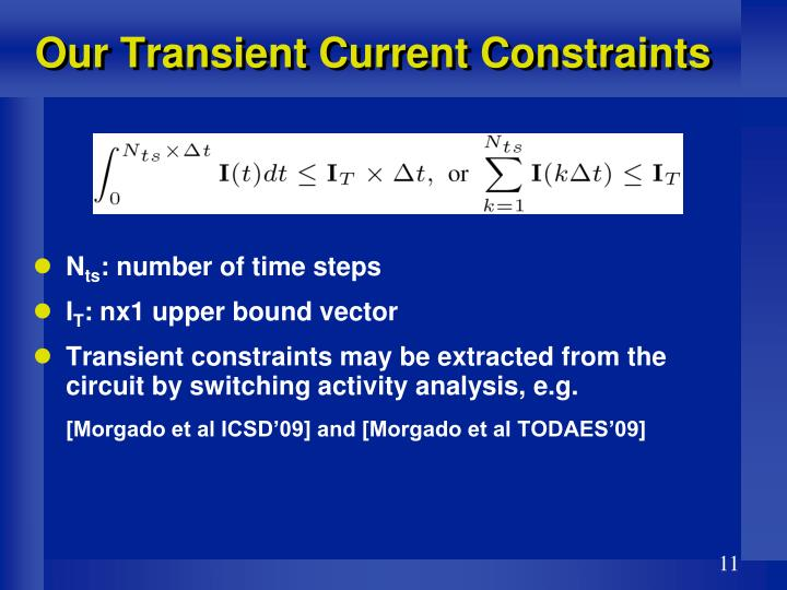 Our Transient Current Constraints